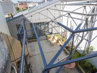 CHATEAU PENHOET Jardin d'hiver industriel par bertin bichet architectes Industriel