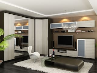 Sliding Door Wardrobes, Fitted Bedroom wardrobes, Hinged Wardrobes, Walk In Closets Modern Living Room by Bravo London Ltd Modern