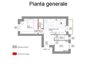 Planimetria post operam: Case in stile in stile Rustico di Architetto Luigi Deli