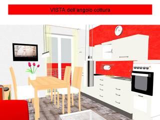 3D soggiorno: Soggiorno in stile in stile Rustico di Architetto Luigi Deli