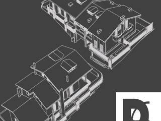 3D complesso residenziale:  in stile  di Architetto Luigi Deli