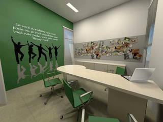 Projeto corporativo: Espaços comerciais  por D2C Arquitetura,Moderno