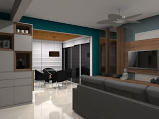 Apartamento Praia Itapema : Salas de estar  por Ponto Interior