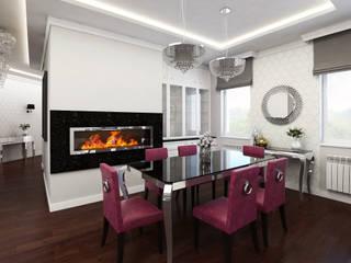 Projekt mieszkania glamour, Warszawa Klasyczna jadalnia od Futurum Architecture Klasyczny