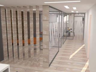 Oficinas y tiendas de estilo  por H2H arquitectos