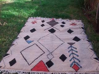 Azilal Berber Carpet: mediterranean  by BOHOZOO,Mediterranean