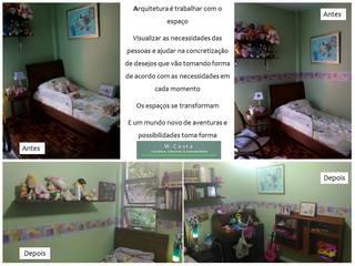 Novo LayOut - Quarto Infantil por W.Costa Arquitetura, Urbanismo & Sustentabilidade Eclético