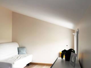 Sur-élévation maison BC Bureau minimaliste par yg-architecte Minimaliste