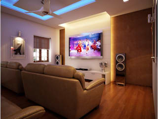 Media room by Premdas Krishna , Modern