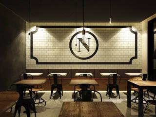Pizzeria Italiana Gastronomía de estilo industrial de Toolboxstudio Industrial