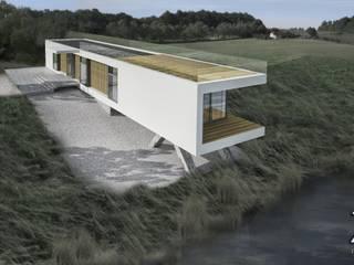 DOM LINIOWY: styl nowoczesne, w kategorii Domy zaprojektowany przez ZA-ARCHITEKT