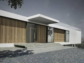 DOM LINIOWY: styl , w kategorii Domy zaprojektowany przez ZA-ARCHITEKT