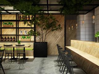 Diseño de restaurante Ramen Ya Espacios comerciales de estilo industrial de Toolboxstudio Industrial