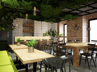 Diseño de restaurante Ramen Ya Gastronomía de estilo industrial de Toolboxstudio Industrial