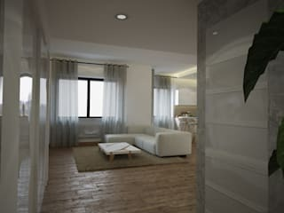 Diseño y reforma piso en Barcelona Centro: Salones de estilo  de Toolboxstudio
