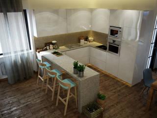 Interiorismo apartamento Barcelona Cocinas de estilo moderno de Toolboxstudio Moderno
