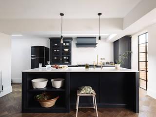 The Wandsworth Kitchen by deVOL deVOL Kitchens Industrial style kitchen Wood Blue