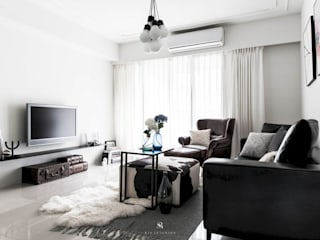 理絲室內設計有限公司 Ris Interior Design Co., Ltd. Living room White