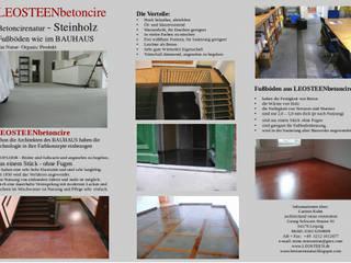 Modern Dining Room by LEOSTEEN Steinholz - farbiger Beton aus Naturstoffen Modern