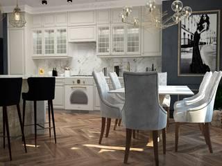 """Дизайн-проект квартиры в ЖК """"Наследие"""": Кухни в . Автор – Дизайн Мира"""