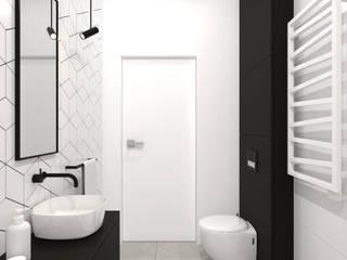 projekt wnętrz domu w Zgierzu Minimalistyczna łazienka od Pracownia Projektowa 4MAT Wojciech Balcerzak Minimalistyczny