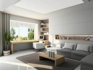 Progettare casa online: Soggiorno in stile in stile Minimalista di Edilizia Software