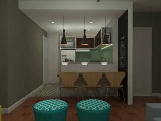 Apartamento: Cozinhas  por Karol Sarnecki - Arquitetura e Interiores