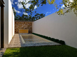 Modern pool by TIZA Modern