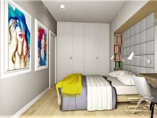 Mieszkanie na Woli: styl , w kategorii Sypialnia zaprojektowany przez 4-style Studio Projektowe Anna Molin
