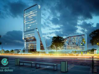 Medical Center: Hospitales de estilo  por ARQ. ERICK OCHOA