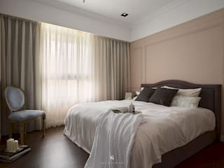 理絲室內設計有限公司 Ris Interior Design Co., Ltd. Country style bedroom Purple/Violet