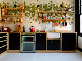 CROUCH END KITCHEN - LONDON N8 Industrial style kitchen by Relic Interiors kitchens and furniture Industrial