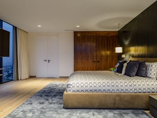 NIVEL TRES ARQUITECTURA Modern style bedroom Wood Wood effect