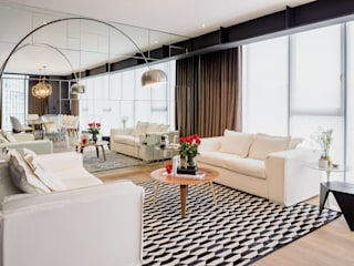 NIVEL TRES ARQUITECTURA Modern living room White