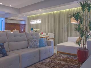 Área social de um lindo apartamento Carolina Fontes Arquitetura Salas de estar modernas