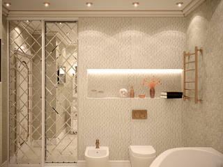 Casas de banho clássicas por Студия интерьерного дизайна happy.design Clássico