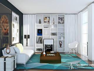 Gilberto Cardoso interiores Ruang Keluarga Modern