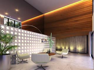 Gilberto Cardoso interiores Koridor & Tangga Modern