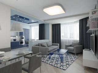 Living room by Архитектурное Бюро 'Капитель', Scandinavian