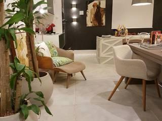 Estar da Família Conectada: Salas de estar modernas por Mericia Caldas Arquitetura