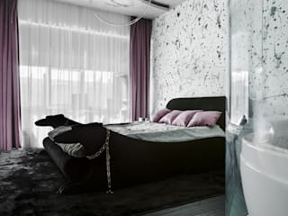 Квартира на Мытной Студия текстильного дизайна 'Времена года' Спальная комната Текстиль Текстиль Белый