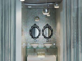 Квартира на Мытной Студия текстильного дизайна 'Времена года' Ванная комнатаТекстиль и аксессуары Текстиль Металлический / Серебристый