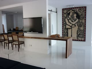 Projeto Patamares Salas de estar modernas por Mericia Caldas Arquitetura Moderno