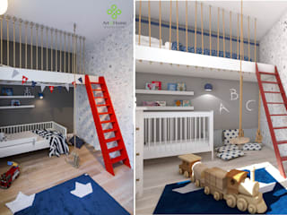 Nursery/kid's room by Art of home, Modern