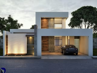 CASA PIRINEO: Casas de estilo  por Alan Rangel Arquitecto
