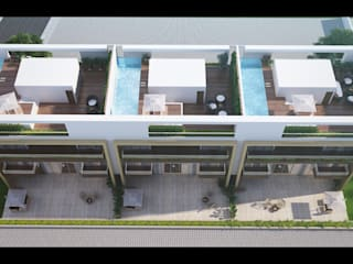 Row Houses Modern houses by DA Designs Modern