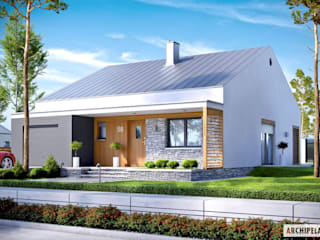 Ralf II G1 ENERGO PLUS - mały dom, który zachwyca : styl , w kategorii Domy zaprojektowany przez Pracownia Projektowa ARCHIPELAG,Nowoczesny