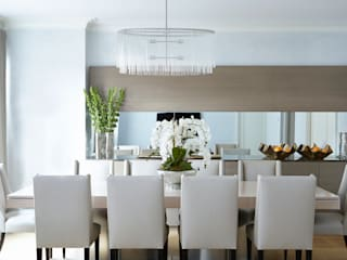 New York City Family Home:  Dining room by JKG Interiors