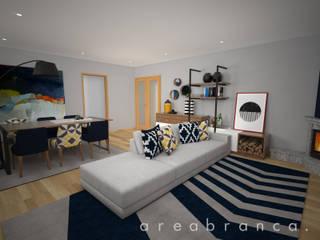 Projeto RO Salas de estar modernas por Areabranca Moderno