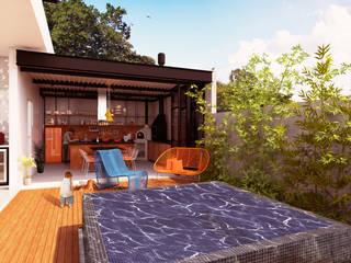 Casas de estilo moderno por Macro Arquitetos